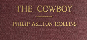 Front cover of The Cowboy