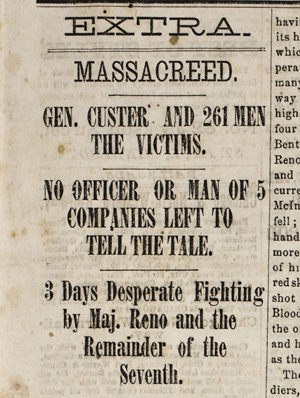 Bismarck Tribune 6 July 1876